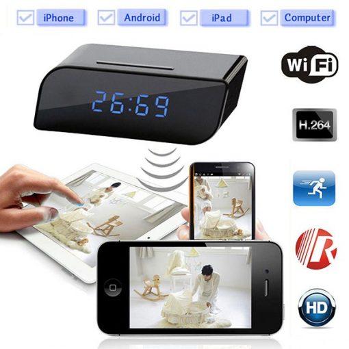 Đồng hồ camera để bàn T11 kết nối wifi